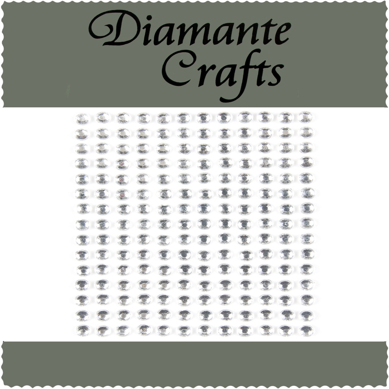 1mm 8mm Clear Diamante Self Adhesive Rhinestone Craft Embellishment Gems