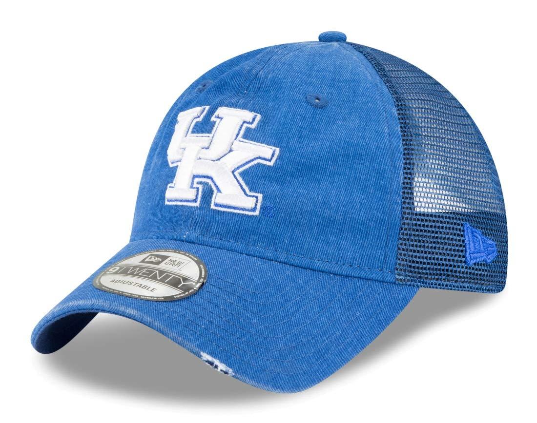 New Era Kentucky Wildcats NCAA 9Twenty Tonal ウォッシュ加工 調節可能なメッシュバックハット B07FNCX56Y