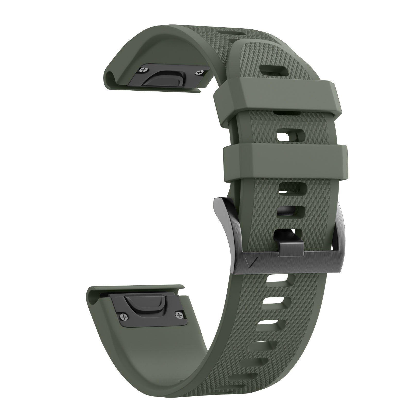 ANCOOL Compatible with Fenix 5 Band Easy Fit 22mm Width Soft Silicone Watch Strap Replacement for Garmin Fenix 5/Fenix 5 Plus/Forerunner 935/Approach S60/Quatix 5 - Army Green by ANCOOL