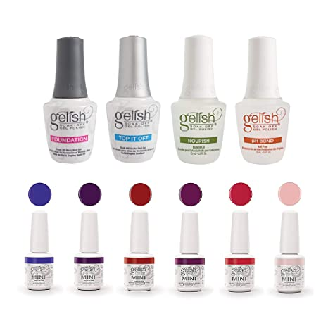 Gelish Essentials Kit + Gelish Mini Fearless & Fun Kung Fu Flair Gel Polish Set by Gelish