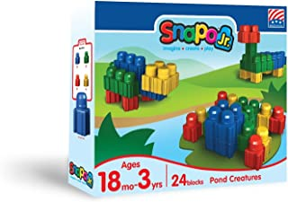 product image for Snapo Jr Pond Creatures 24 Piece Multi Color Set