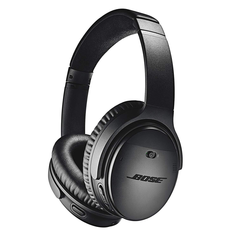 Bose QuietComfort 35 (Series II) Wireless Headphones, Noise Cancelling, Alexa voice control - Black I Worldwide Version