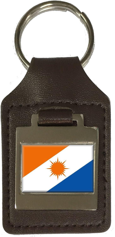 Leather Keyring Engraved Tocantins Flag