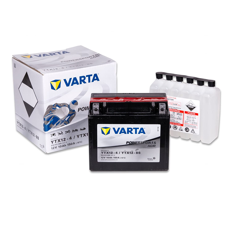 Varta 510012009A514 Starterbatterie Varta YTX12-BS Varta PowerSports