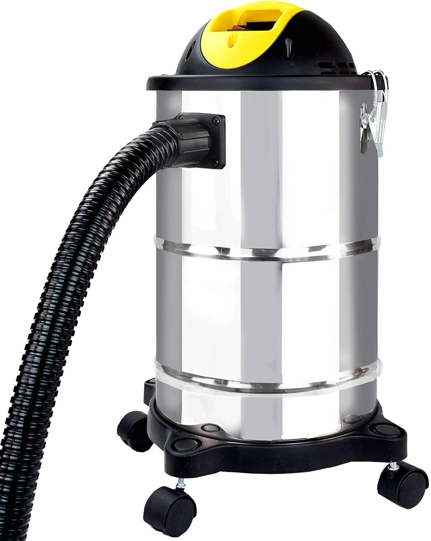 Syntrox Germany - Aspiradora de cenizas (1600 W, acero inoxidable, 18-20 L, con motor): Amazon.es: Hogar