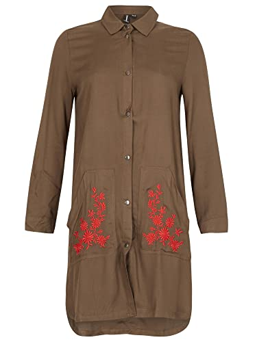 Izabel London -  Vestito  - Camicia - Donna Khaki 36
