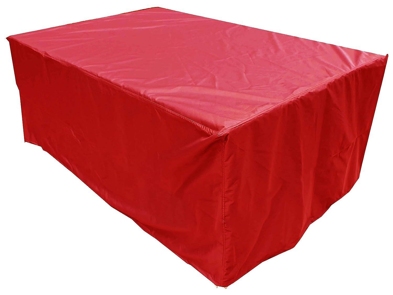 KaufPirat Premium Copertura per i Mobili da Giardino 170x95x70 cm Custodia Protettiva Copri Copertura Rivestimento per Sedili Impermeabile in Oxford Rosso