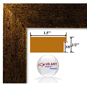 18x24 brushed copper brass finish picture poster frame 15 inch wide mdf