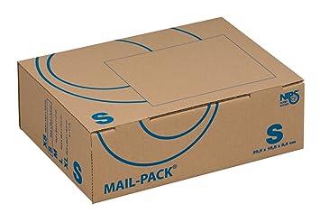 Nips 141311162 Mail-Pack Basic - Caja para envíos, tamaño pequeño, 20 unidades, 255 x 185 x 85 mm, color marrón: Amazon.es: Oficina y papelería