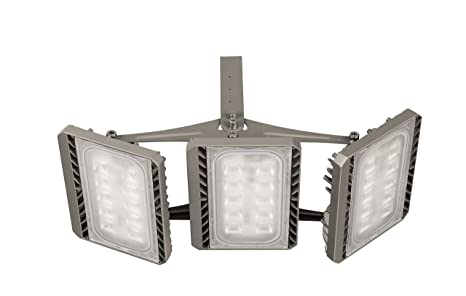 solla 150w cree led flood light outdoor 3head security warm white