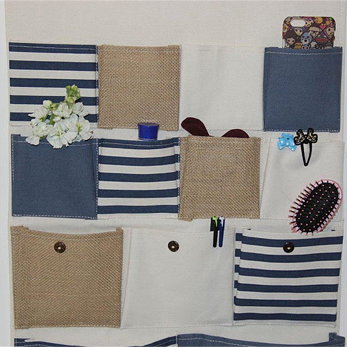 WINOMO Compartimiento de almacenamiento bolsillos pared puerta armario colgante organizador de bolsa de almacenamiento-talla L