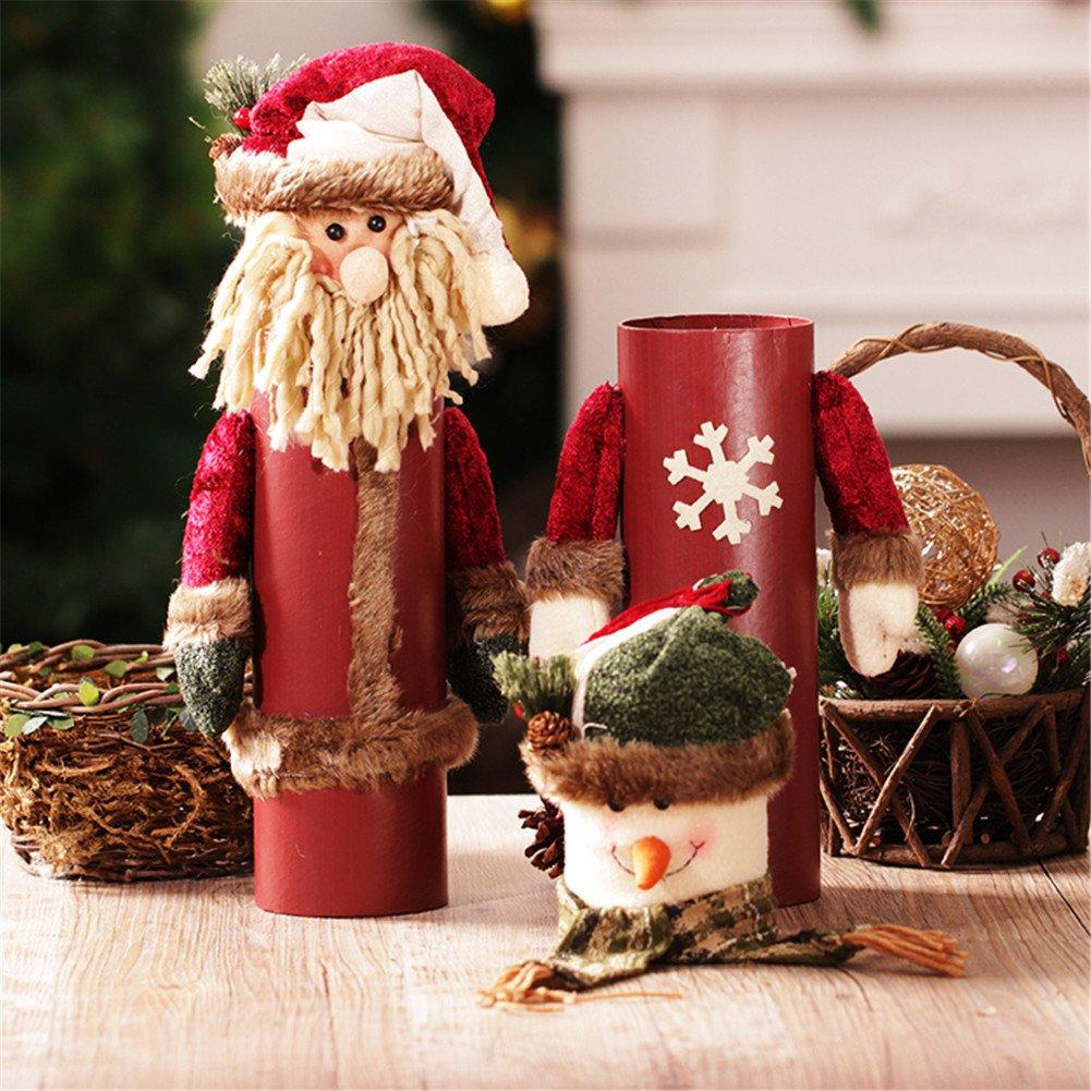 La personalidad creativa retro Navidad botellas de vino . El viejo muñeco de nieve decoraciones de Navidad la escena: Amazon.es: Hogar