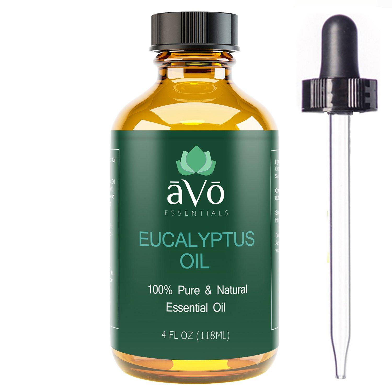 aVo Essentials Eucalyptus Essential Oil for Aromatherapy with Glass Dropper, 4 oz