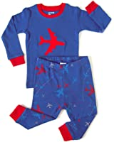Leveret Boys 2 Piece Children Pajama 100% Cotton (Size 6M-14 Years)