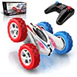 DEERC RC Cars Stunt Cars Remote Control Car Toys, 4WD Off Road Dual Color Headlights Double Sided Rotating 360° Flips…