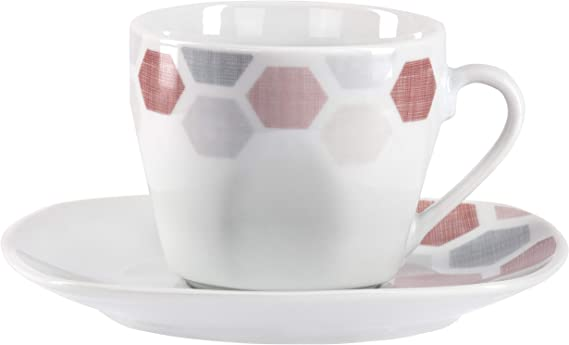 VAN WELL 12 Piece Set Coffee cup set for 6 people: cups 220