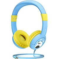 Mpow Kids Headphones with 85dB Volume Wired On-Ear Headphones with Music Sharing Function (Sky Blue)