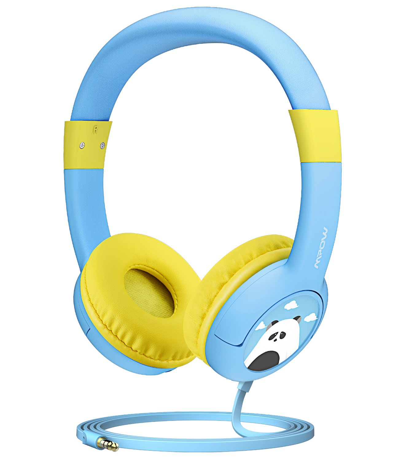 Mpow Kids Headphones with 85dB Volume Limited Hearing Protection & Music Sharing Function, Kids Friendly Safe Food Grade Material, Tangle-Free Cord, Wired On-Ear Headphones for Children Toddler Baby by Mpow