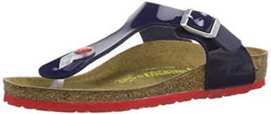 Birkenstock Womens Gizeh Clogs and Mules Blue Dress Blue LS