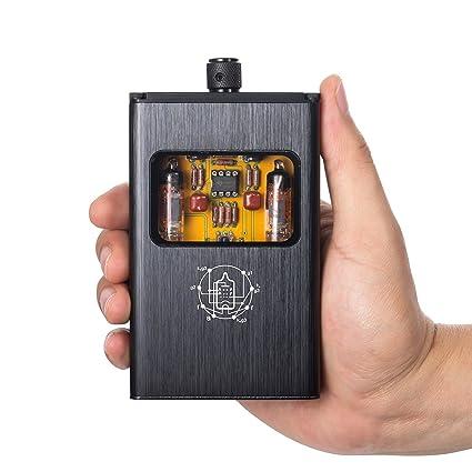 Nobsound Little Bear B4 Portable Vacuum & Valve Tube Headphone Amplifier  Stereo Hi-Fi Amp built-in battery (Black)