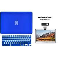 Protector Funda Case para Macbook + Protector Skin Cover de Teclado en Español + Webcam Cover AntiSpy Azul Fuerte Macbook Air 13'' Model: A1369 / A1466