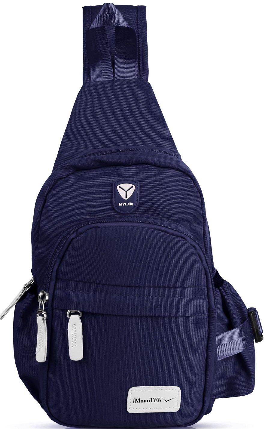 GPCT Nylon Crossbody Shoulder Chest Sling Bag Daily Travel Backpack (Blue)