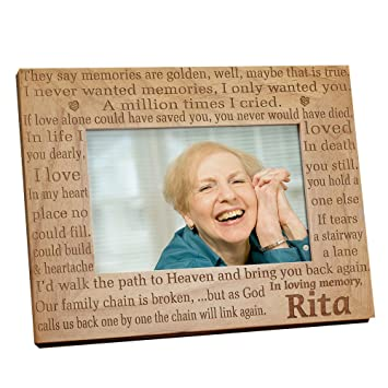 Amazon.com - In Loving Memory Memorial Wood Picture Frame, Holds a ...