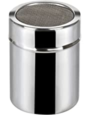 TRIXES–Icing Sugar Shaker Stainless Steel Shaker Cocoa Flour Spice Powder Tin