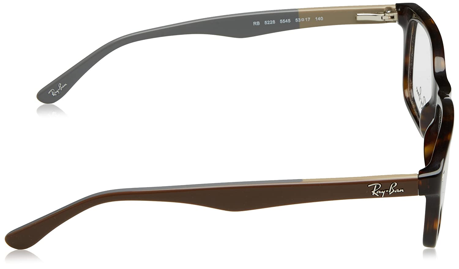 ff2d791b7c Ray-Ban RX5228 Glasses in Havana Brown RX5228 5545 50  Amazon.co.uk   Clothing