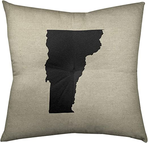ArtVerse Katelyn Smith 26 x 26 Spun Polyester Montana Outline Pillow