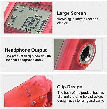 Tempo Metronome BiuZi 1Pc 30-280bpm Digital Beat Tap Metronome Musical Instruments Plastic Mini Metronome M50 Color Optional Red