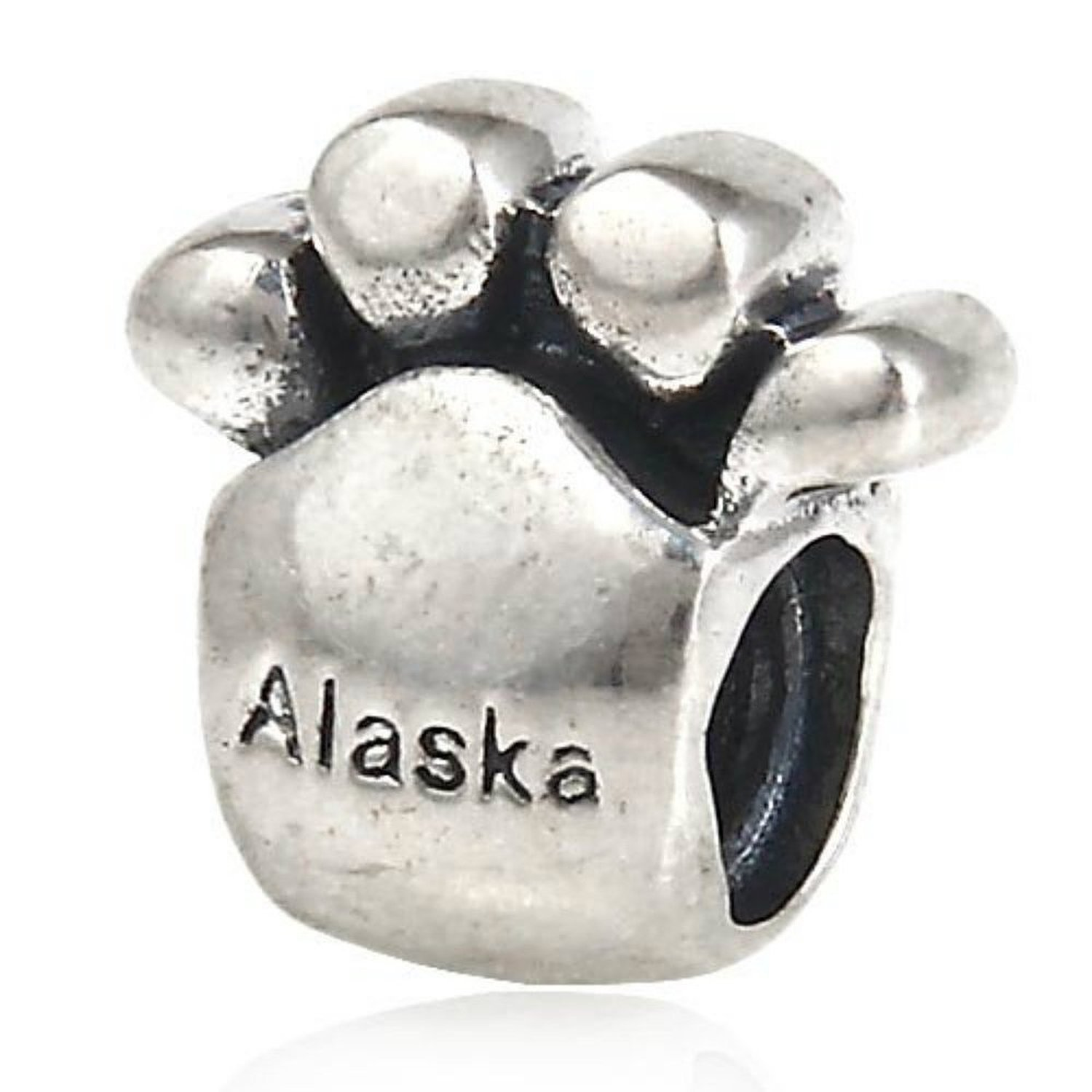 Alaska Big Bear Paw 925 Sterling Silver Bead Fits European Brand Charms Bracelets