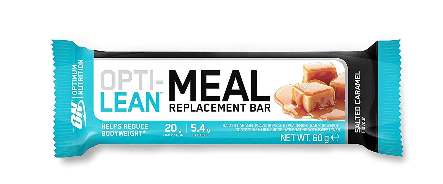 Optimum Nutrition Opti Lean Meal Replacement Salted Caramel Bar, Sustitutivo de Comida - 12 barras: Amazon.es: Salud y cuidado personal