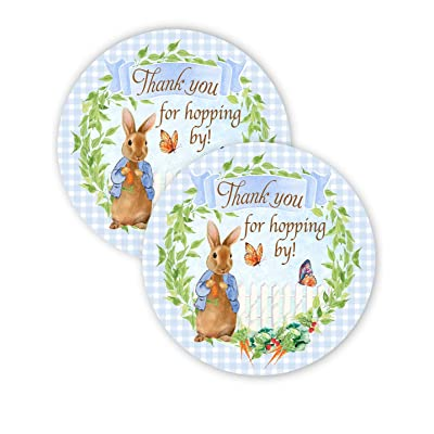 POP parties Peter Rabbit Party Favor Stickers - 40 Favor Bag Stickers - Peter Rabbit Party Thank You Tag - Peter Rabbit Party Supplies - Peter Rabbit Party Decorations - Stickers B: Toys & Games