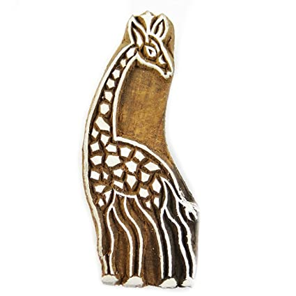 Amazon.com: Knitwit Decorative Printing Block On Fabric Giraffe ...