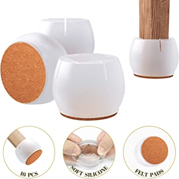 Feet Table Foot Floor Protectors Accessories 3 shapes Cover Furniture 16Pcs