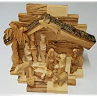 Handcarved madera de olivo de Belén en miniatura