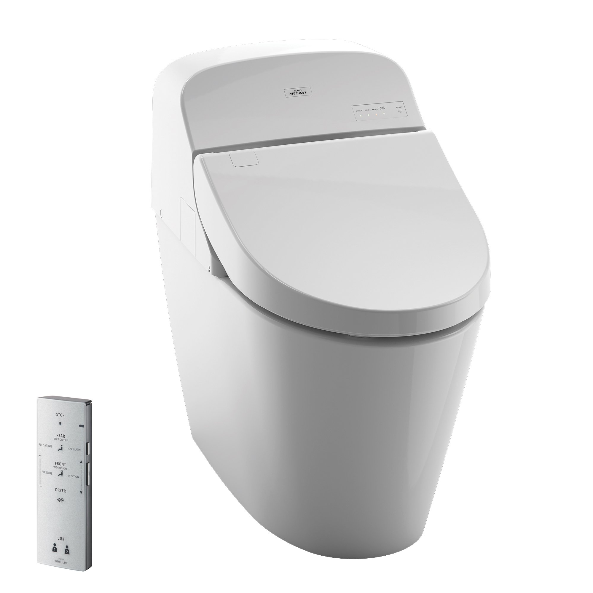 Toto MS920CEMFG#01 1.28-GPF/0.9-GPF Washlet with Integrated Toilet G400, Cotton White by TOTO