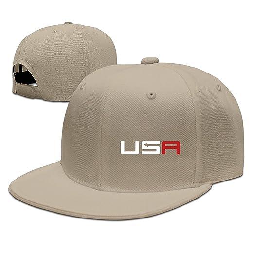 Young Men 2016 USA Ryder Cup Golf Logo Adjustable Flat-Along Baseball Hats  Cap 6e80510a860