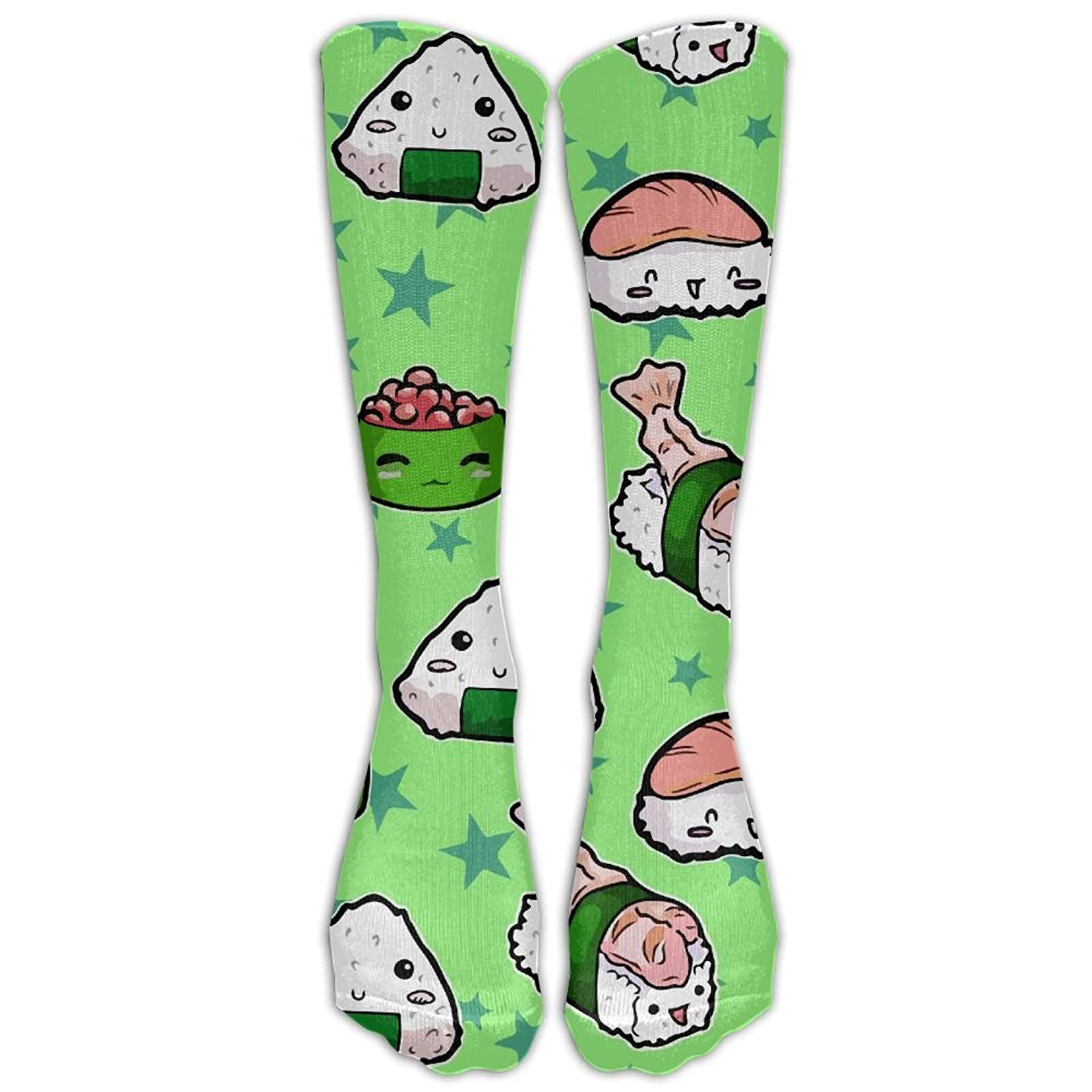 But why miss Men's Women's Novelty Cute Japanses Sushi Long Sock Athletic Calf High Crew Soccer Socks Sports 8723027216408