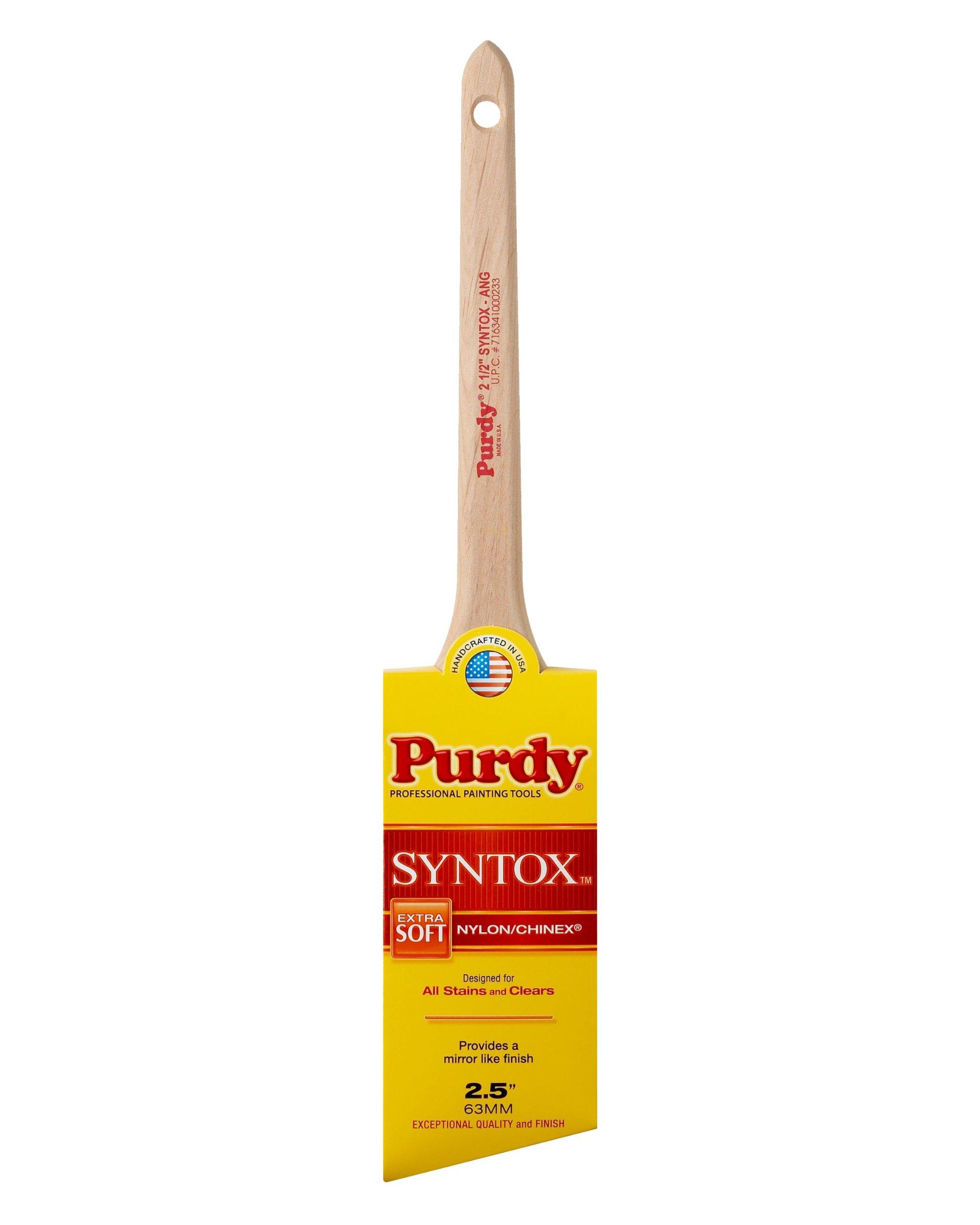 Purdy 144403625 Syntox Angular Trim Brush (Case of 6), 2-1/2''