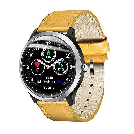 Relojes Inteligentes para Hombres Reloj Deportivo con Monitor de Ritmo cardíaco, IP67 Monitor de Actividad
