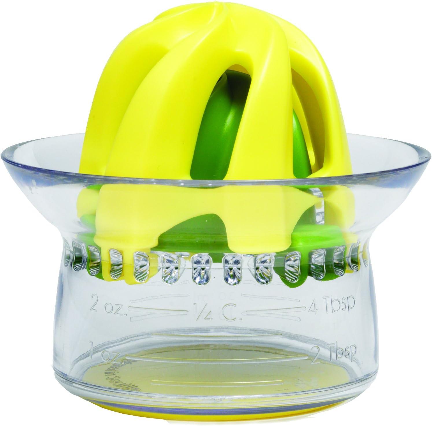 "Chefn 27470""Juicester Junior"" 2-in-1 Citrus Juicer, Transparent/Yellow/Green"