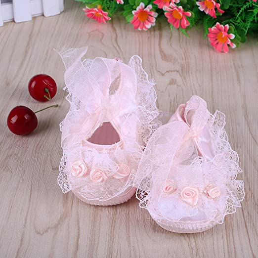 Amazoncom  Cute NonSlip Newborn Shoes Baby Girl Toddler Cloth Shoes With Beautiful  Lace  Baby
