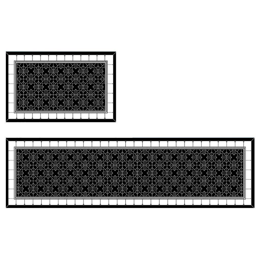 WENZHE 敷物 キッチンカーペットマット キッチンマット滑り止め耐油洗濯機、厚さ9mm、5仕様 ( 色 : C , サイズ さいず : 50*240cm ) 50*240cm C B076SV55M5
