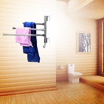 Lnxd Wandmontage Badezimmer Handtuchhalter Edelstahl Handtücher ...