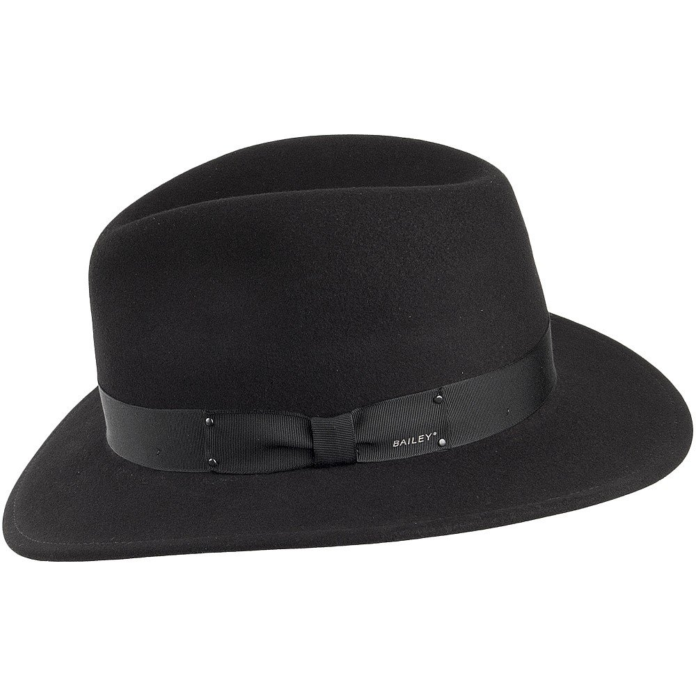 9faaa63f87e3f Bailey Hats Curtis II Crushable Fedora - Black  Amazon.co.uk  Clothing