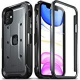Vena Case Compatible with iPhone 11, [vArmor Pro] Full Body Rugged Heavy Duty Defender Case with Built-in Screen Protector (Space Gray/Black)
