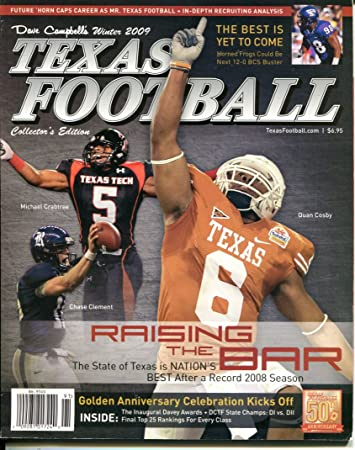 2009 Dave Campbells Texas Football Mag Winter Michael Crabtree Raiders VG 22578 at Amazons Sports Collectibles Store
