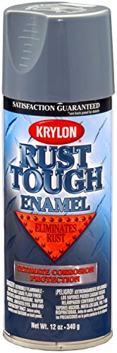 Krylon K09206007 Rust Tough Battleship Gray Rust Preventive Enamel